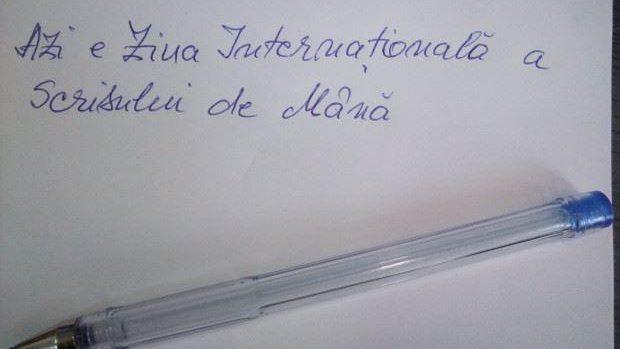 Participați la un experiment grafologic de Ziua Internaţională a Scrisului de Mână