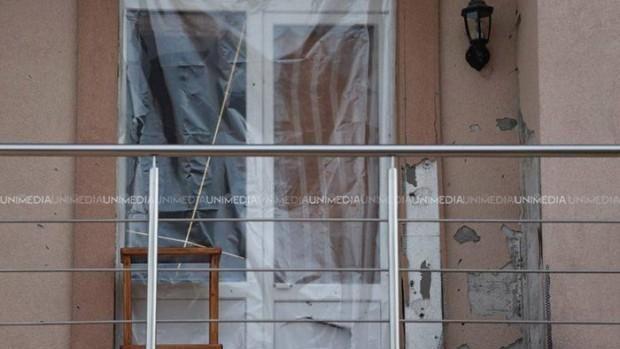 (foto) Poliția investighează cazul exploziei de la casa guvernatorului BNM