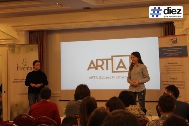 Echipa ARTA, prezentându-și proiectul Photo Credit: diez.md