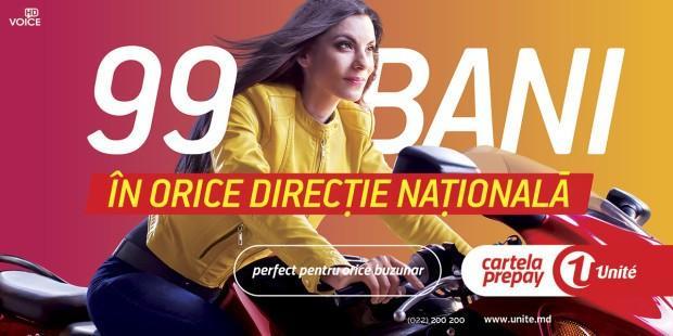 Cu cartelele Unite Prepay ai cele mai mici tarife, doar 99 bani în orice direcţie naţională