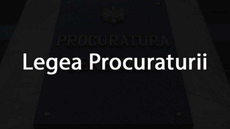 Proiectul Legii Procuraturii a fost aprobat în a doua lectură