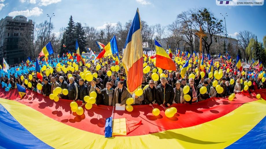 (foto) Vezi cele mai importante momente de la Marșul Unirii într-un reportaj fotografic