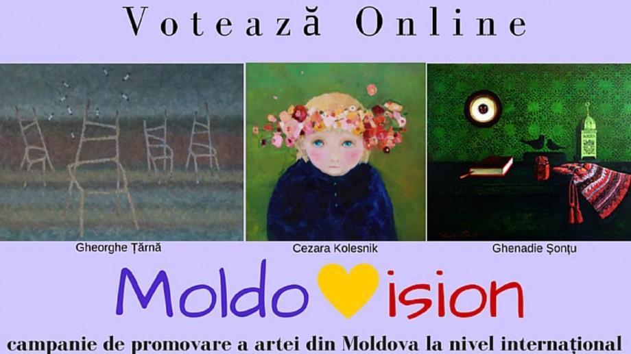 (foto) Susține artiștii plastici la un concurs internațional prin campania Moldovision