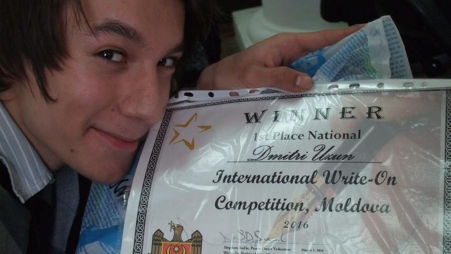 """Un student de la ULIM s-a clasat pe locul I la Concurs Internaţional de Eseuri """"Write-on!"""""""