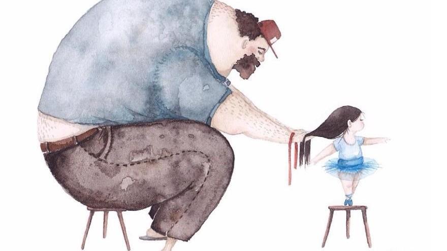 (foto) Emoționant! Ilustrațiile unei tinere pictorițe despre iubirea dintre tați și fiicele lor