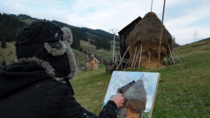 """(foto) Cele mai frumoase lucrări ale studenților de la """"Stati Art"""" pictate în comuna Moldovița"""