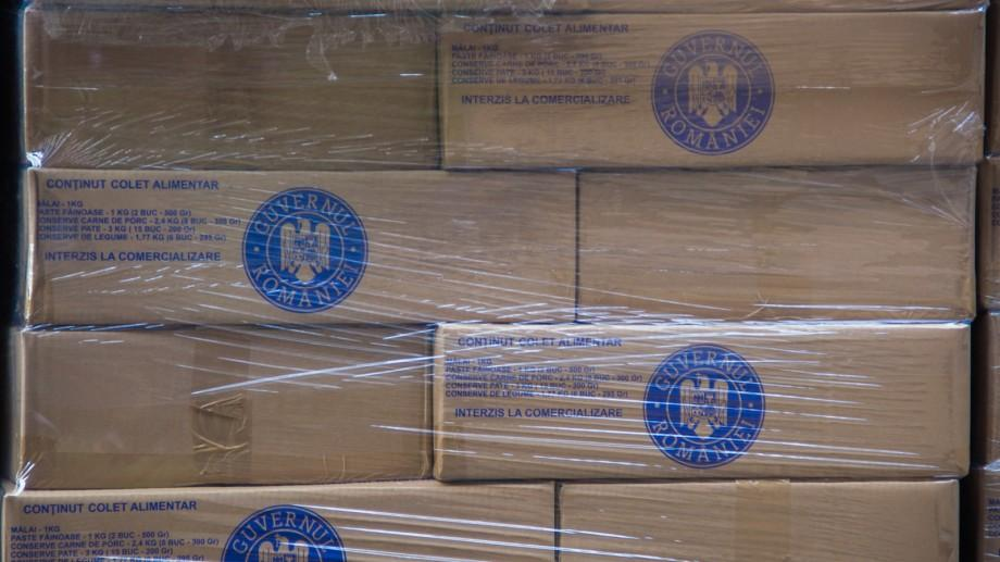 Lotul de colete alimentare oferite de către Guvernul României a ajuns în Moldova