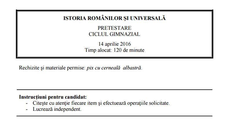 Barem Simulare Romana 2019 Detail: Examene 2016: Ce Au Avut De Rezolvat Elevii De Clasa A IX