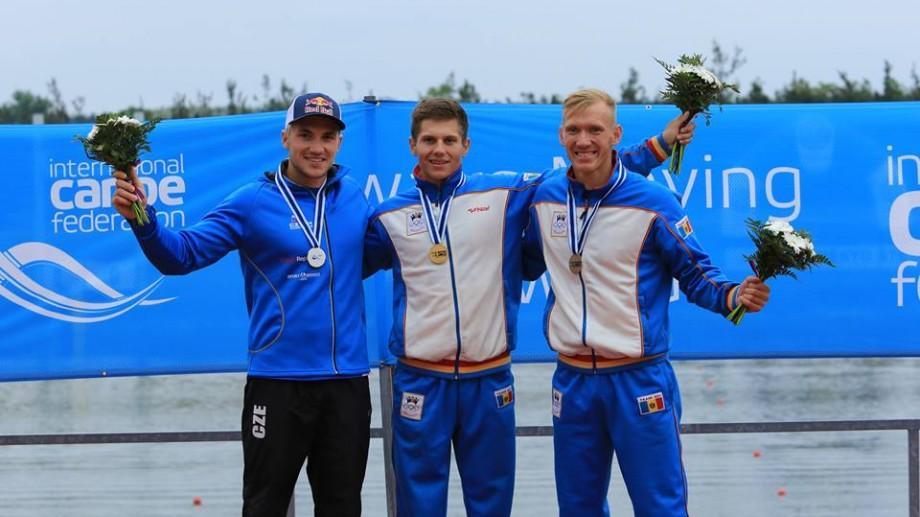 Serghei Tarnovschi se întoarce acasă cu trei medalii la Cupa Mondială la kaiac-canoe