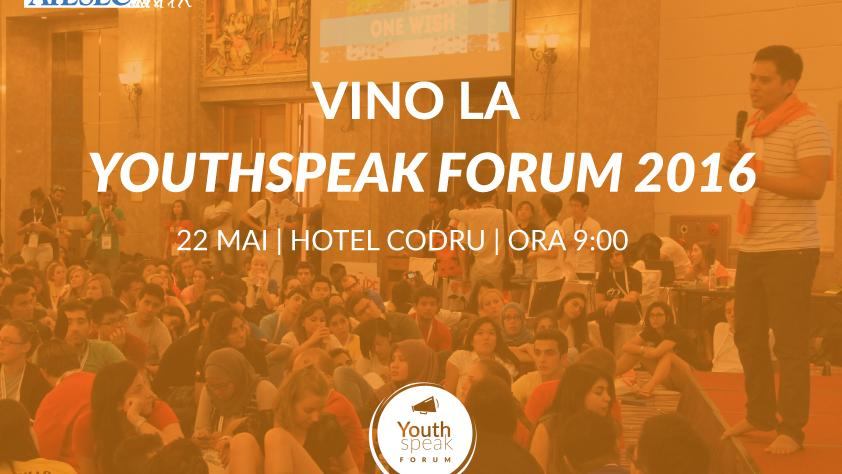 (video) 5 motive de ce s? participi la Forumul YouthSpeak Moldova 2016
