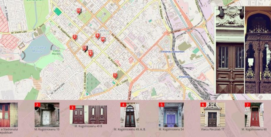 Acum puteți vedea ușile din centrul istoric vechi al Chișinăului pe o hartă interactivă