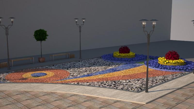 (foto) Autoritățile municipale vor amenaja scuarul din fața casei lui Plahotniuc