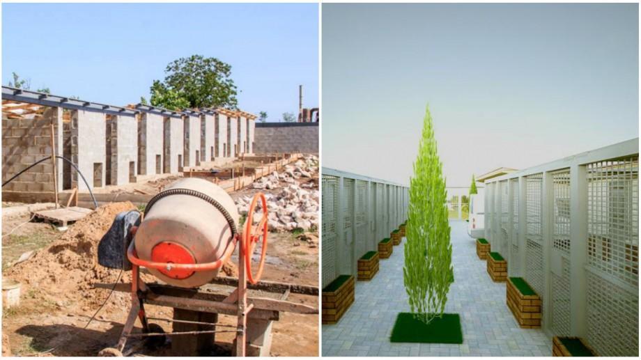 (foto) Cum se desfășoară construcția centrului de plasament pentru animalele fără stăpân din Orhei