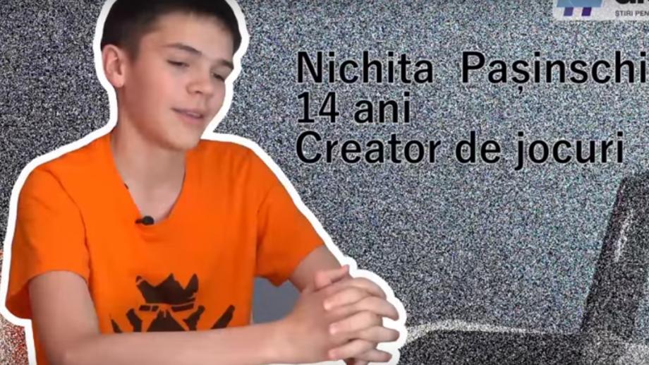 (video) Unde-s tinerii: Nichita Pașinschi de la Edineț la 14 ani a creat un joc video care i-a adus 5.000 de euro