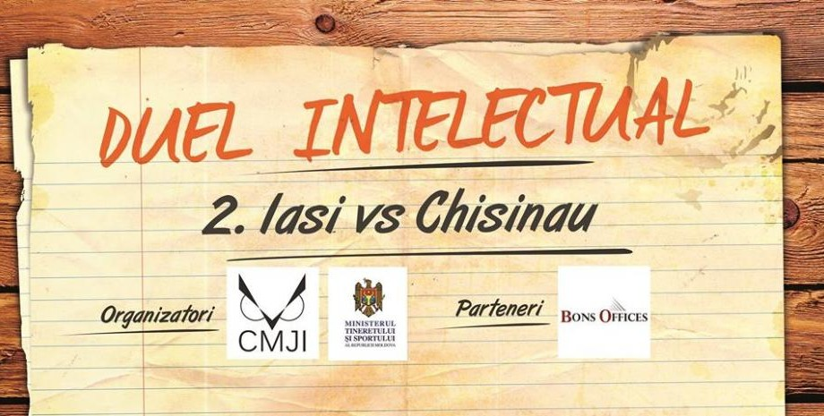 Tineri din Chișinău și Iași se vor întrece în inteligență la un duel intelectual