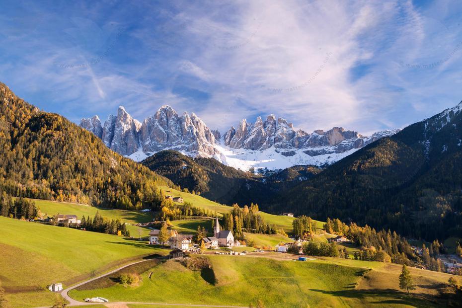 Funes valley, Dolomites, trentino alto adige, Italy