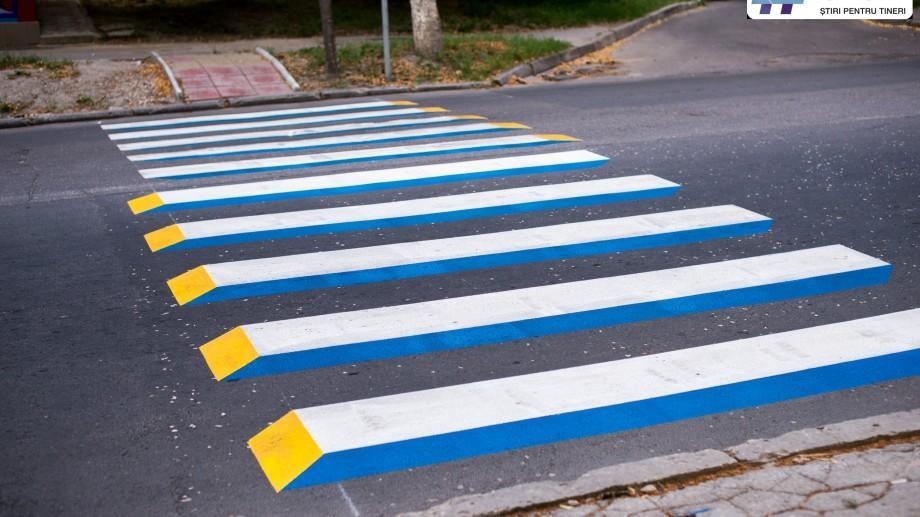 (foto) Cum arată primele treceri pietonale 3D de pe străzile Chișinăului