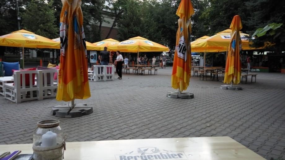 (foto) Cum arată Scuarul Culturii și Sportului din fața liceului Gheorghe Asachi