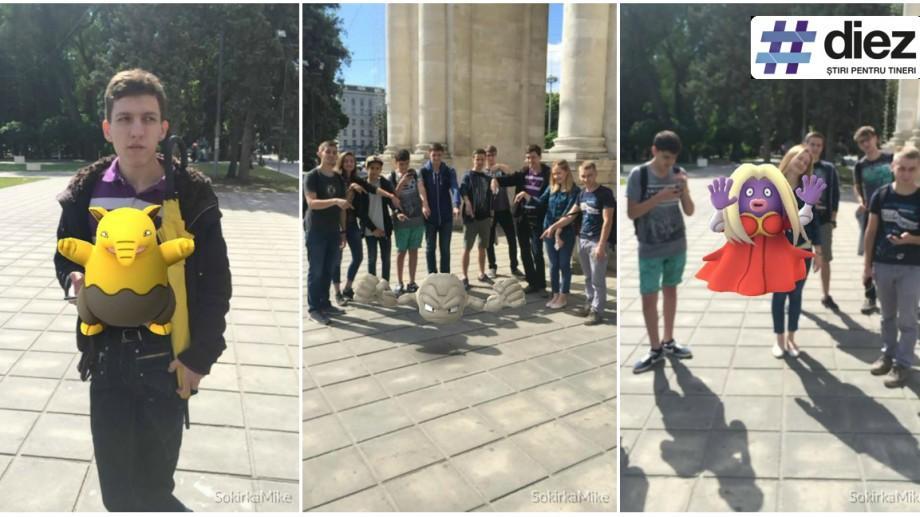 """(foto, video) Fanii Pokemon Go din Chișinău au ieșit la vânătoare: """"Cu 15 km parcurși pe zi, ne putem numi sportivi"""""""