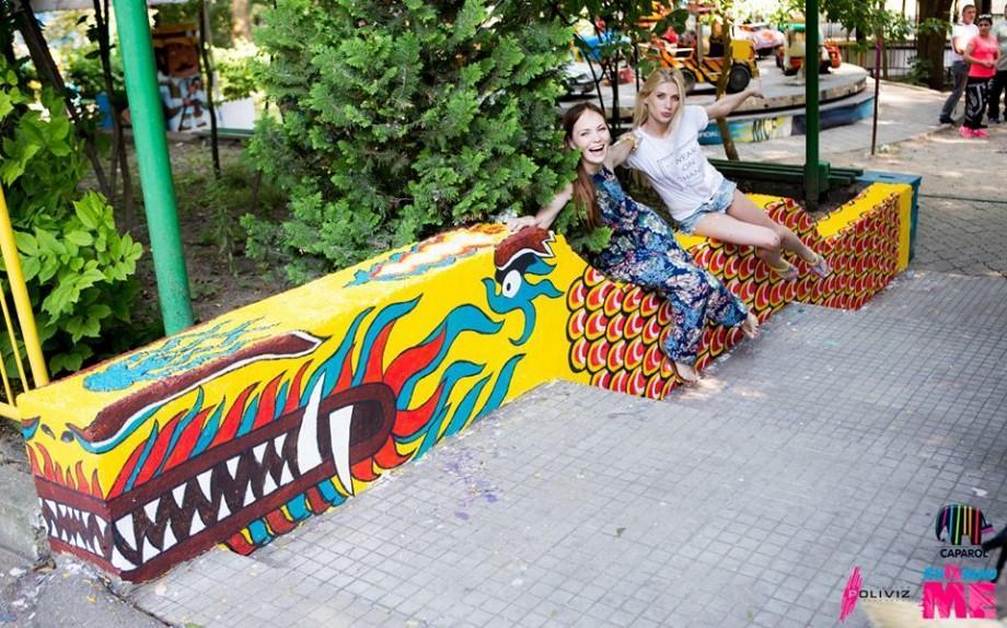 """(foto) În parcul de distracții """"Aventura Park"""" a apărut un Laur Balaur"""