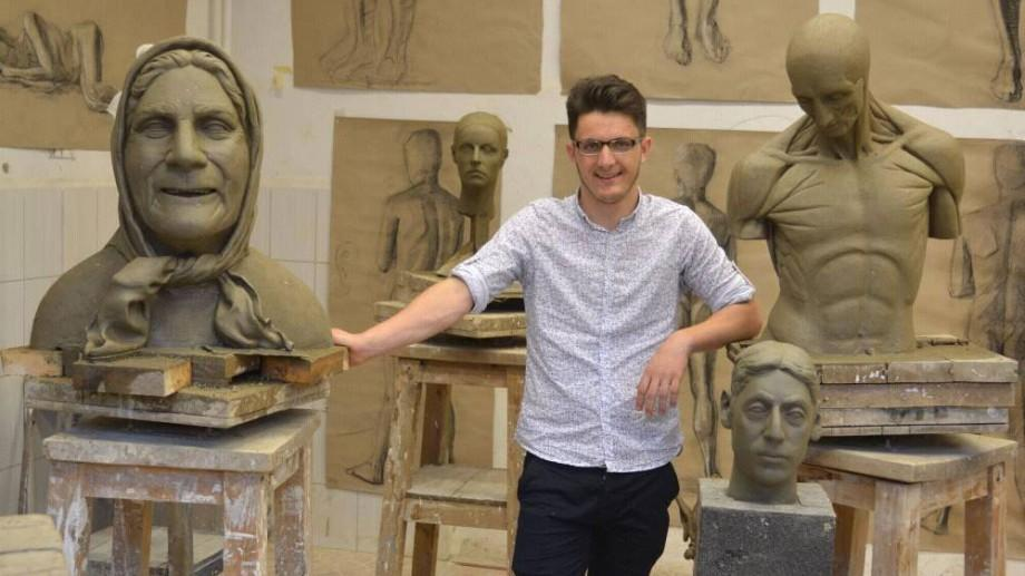 (foto) Cum e să fii student basarabean la arte la București: Dorința de a fi sculptor