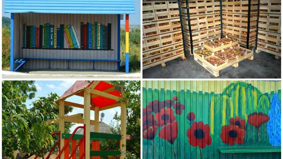 (foto) Stații pictate, casă de ambalare a fructelor, iluminarea localității – proiecte de bune practici, la Ialoveni