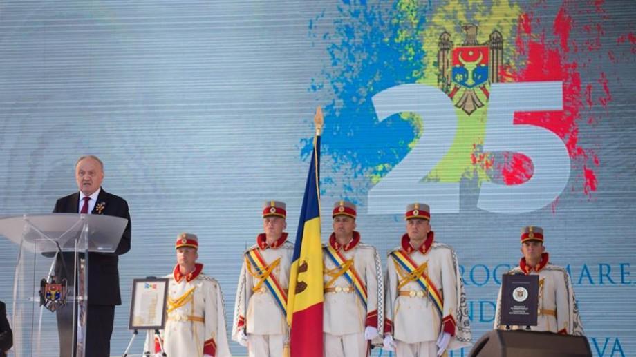 (video) Nicolae Timofti a oferit o recepție cu prilejul Zilei Independenței. Imagini de la Palatul Republicii
