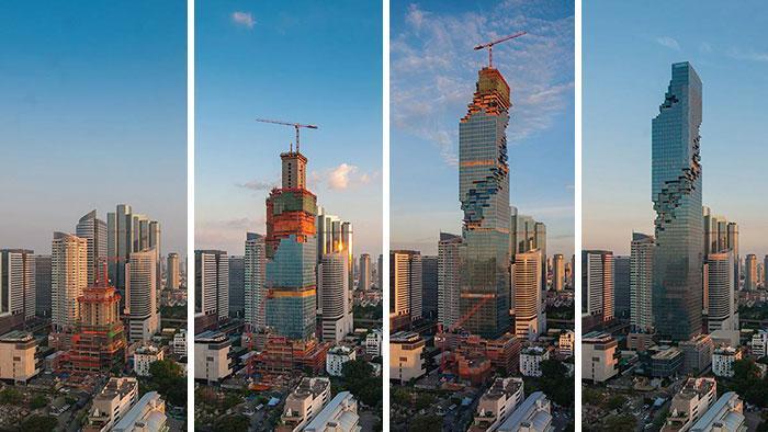 (foto) În Bangkok a răsărit cea mai incompletă clădire zgârie-nori ce seamănă cu un lego