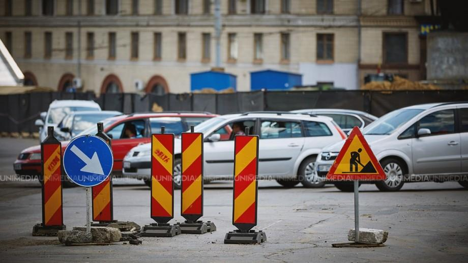 Atenție șoferi! Azi noaptea va fi suspendat parțial traficul rutier pe str. Miorița
