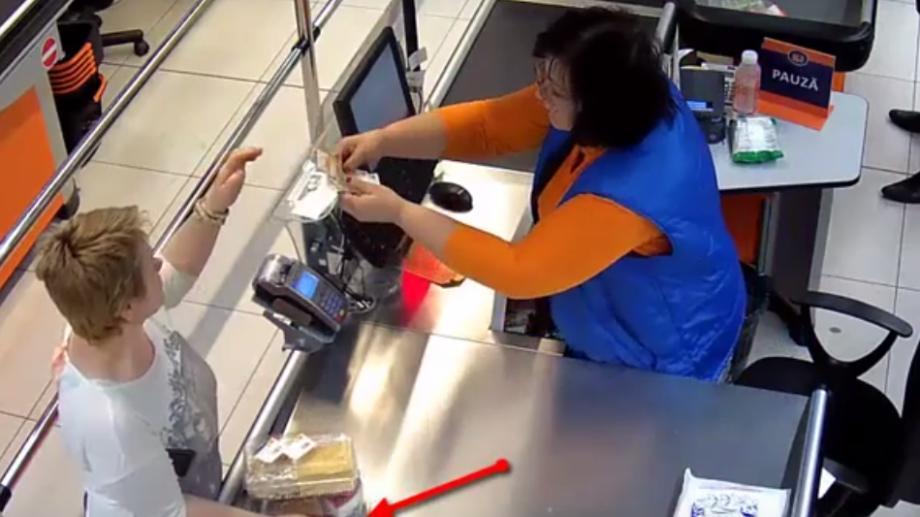 (video) Femeia care a furat o tabletă dintr-un supermarket a fost identificată