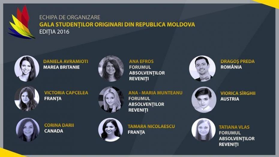 (foto) Fă cunoștință cu echipa care va organiza Gala Studenților Originari din Republica Moldova în acest an