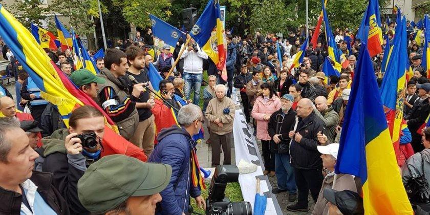 (video) Marș unionist cu incidente, la București. Mai mulți protestatari au fost reținuți