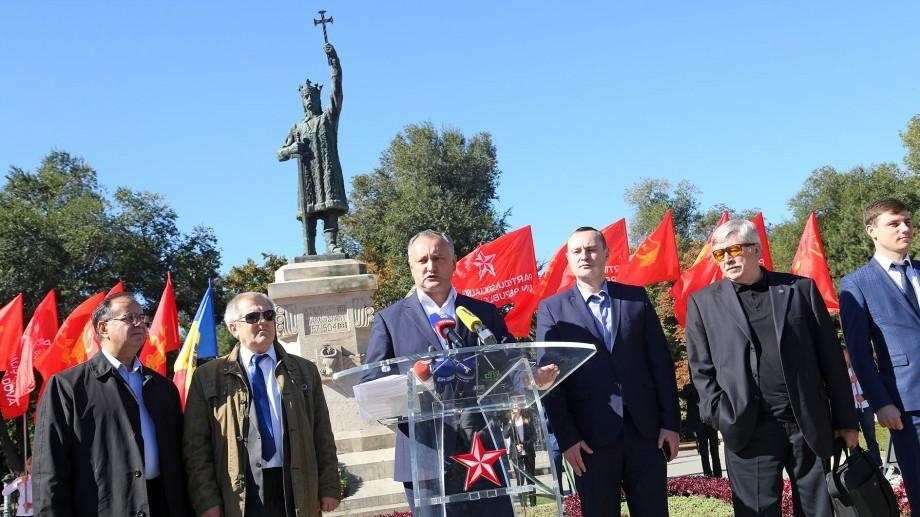 Dodon, dacă va deveni președinte: Va interzice unionismul, iar în școli va fi studiată Istoria Moldovei
