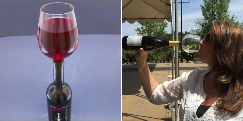 (foto, video) A fost inventat paharul care îți permite să bei direct din sticlă