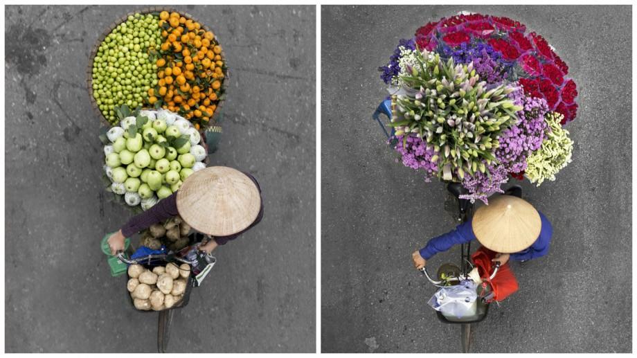 (foto) A petrecut câteva zile pe podurile din Hanoi pentru a surprinde frumusețea vânzătorilor ambulanți