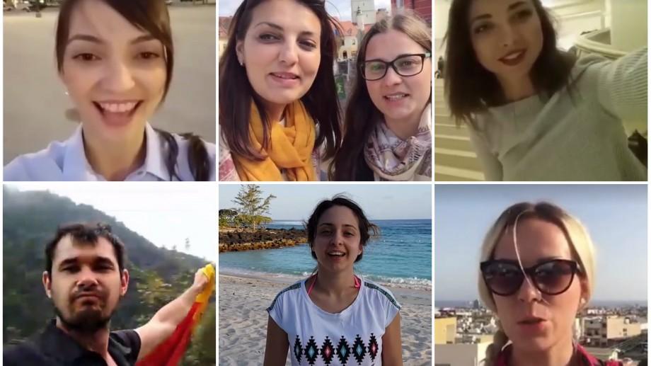 (video) Tinerii moldoveni de peste mări și țări felicită Chișinăul cu Hramul Orașului