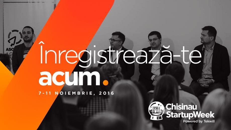 Nouă motive pentru care să vii la Chișinău Startup Week