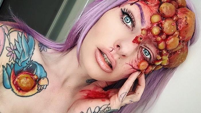 (foto) Inspiră-te cum să-ți faci machiajul de Halloween. Idei care îți vor provoca coșmaruri