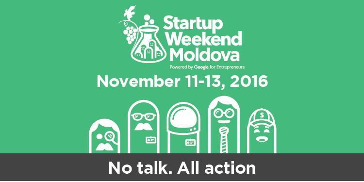 În perioada 11-13 noiembrie se va desfășura cea de-a VIII-a ediție Startup Weekend Moldova!