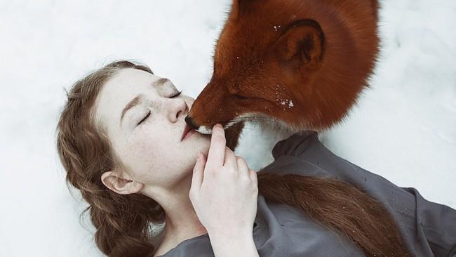 (foto) Povești de iarnă în fotografii. Portrete feerice cu roșcate și o vulpe ce par a fi rupte de realitate