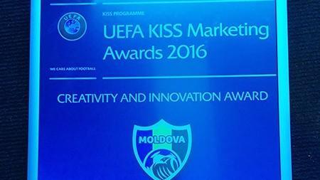 (video) UEFA a premiat Federația Moldovenească de Fotbal pentru un proiect creativ și inovativ