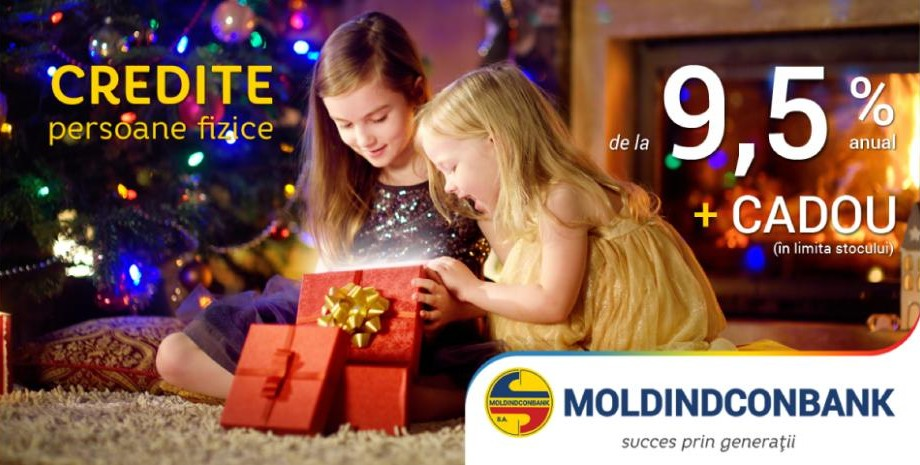 Ofertă de sărbători de la Moldindconbank – Credite cu 9,5%