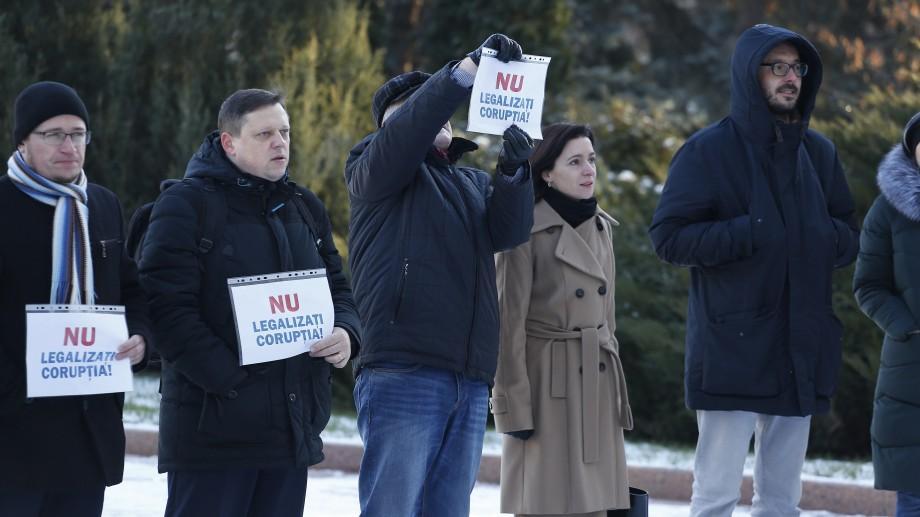 (video) Alături de societatea civilă, Maia Sandu a participat la un flashmob în fața Parlamentului