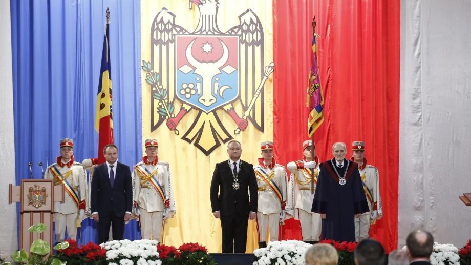 """(doc, video) Primul discurs al Președintetului Igor Dodon: """"Vom întinde poduri atât spre Est, cât și spre Vest"""""""