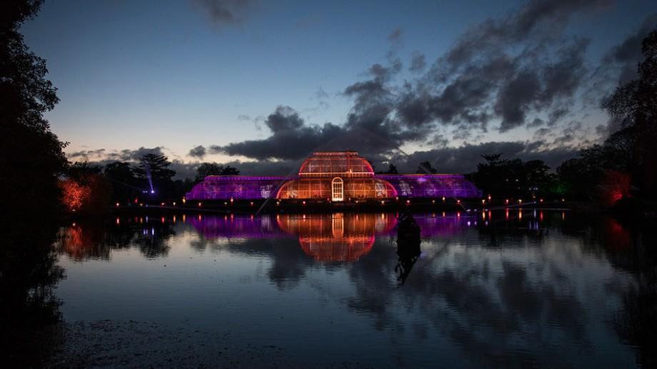 (foto, video) Spectaculos! Show de lumini și decorațiuni de Crăciun la Grădina Botanică Regală din Londra