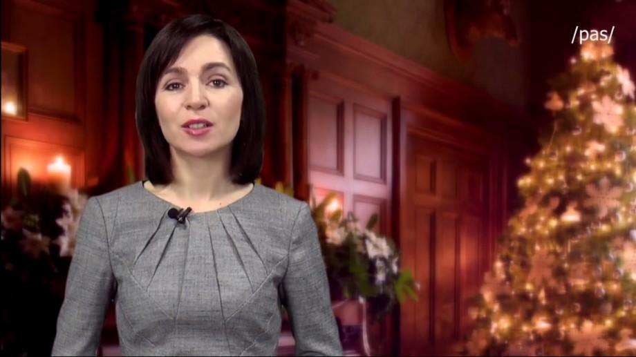 (video) Mesajul de Revelion al Maiei Sandu pentru cetățenii Republicii Moldova