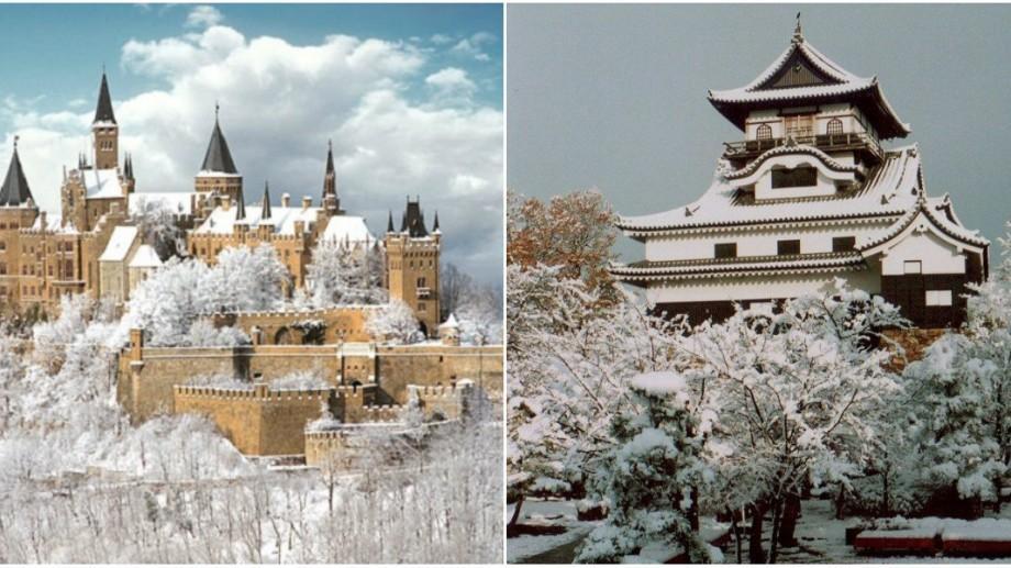 (foto) Zece cele mai frumoase castele din lume pe timp de iarnă