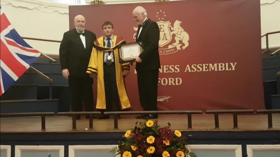 (video) Un rector din Moldova a primit titlul de Onoare al prestigioasei Universități Oxford