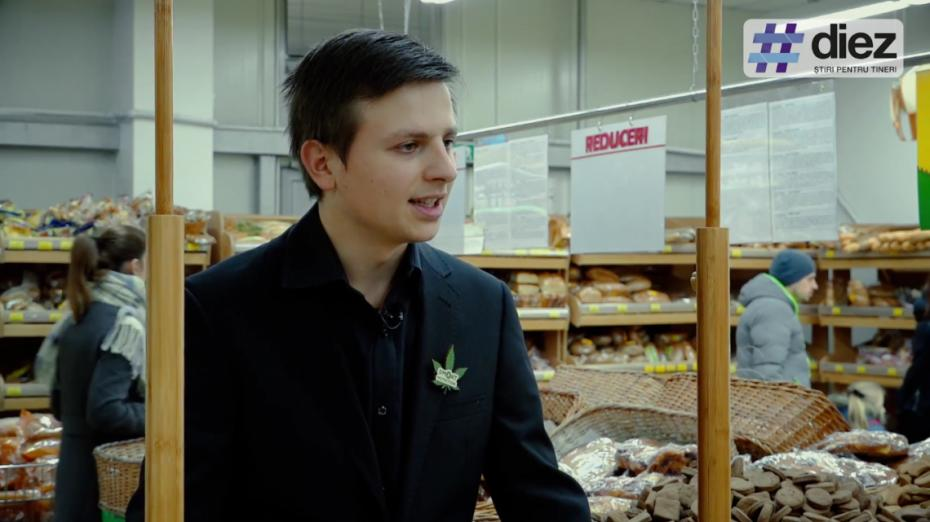 (video) Unde-s tinerii. Gheorghe Tîmbur, tânărul antreprenor care aduce pe piață biscuiții din cânepă