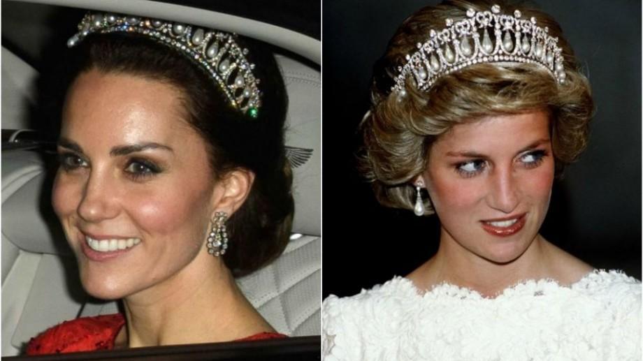 (foto) Kate Middleton a strălucit la o recepție purtând tiara Prințesei Diana